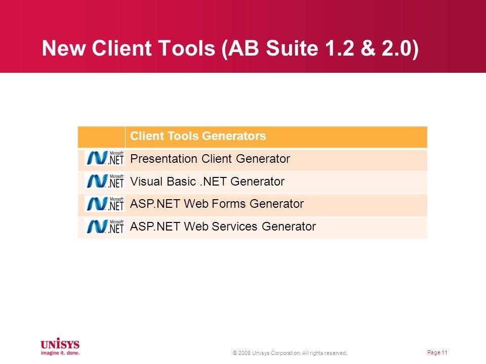 New Client Tools (AB Suite 1.2 & 2.0)