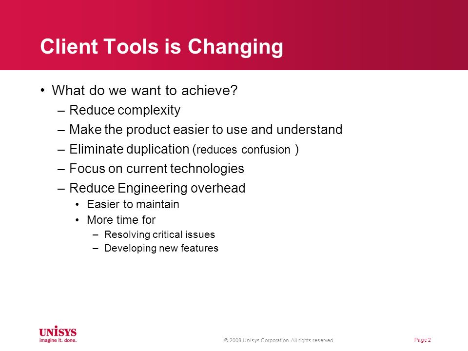 Client Tools is Changing