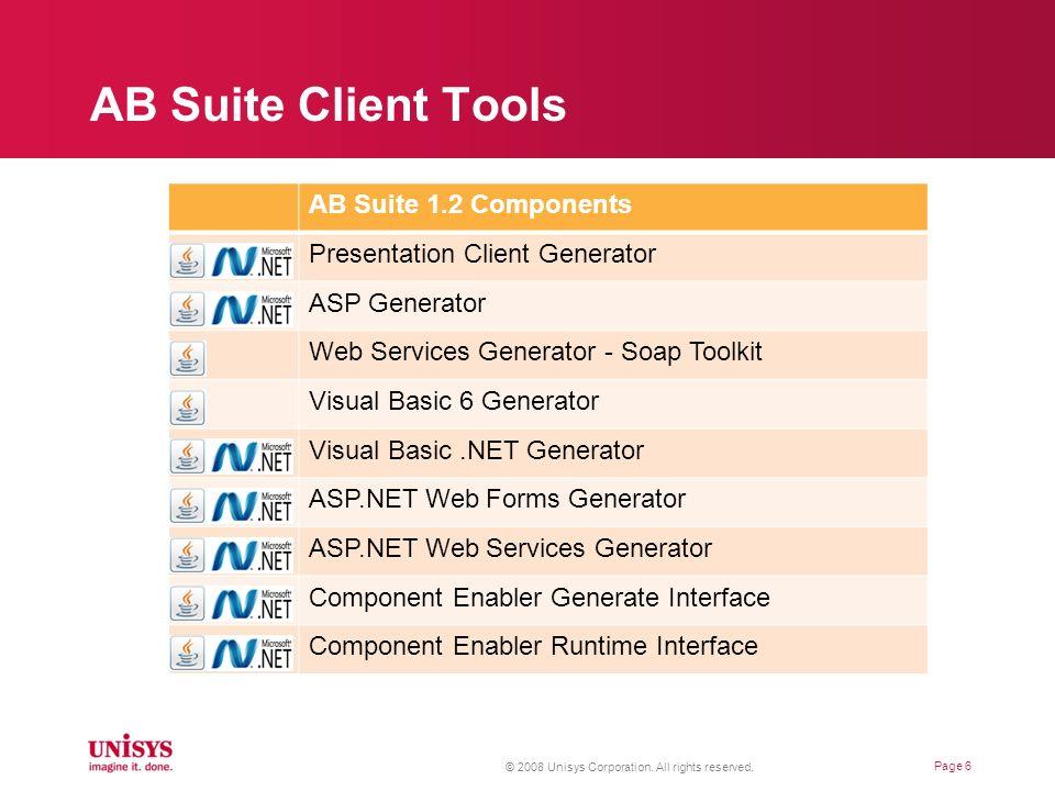 AB Suite Client Tools AB Suite 1.2 Components