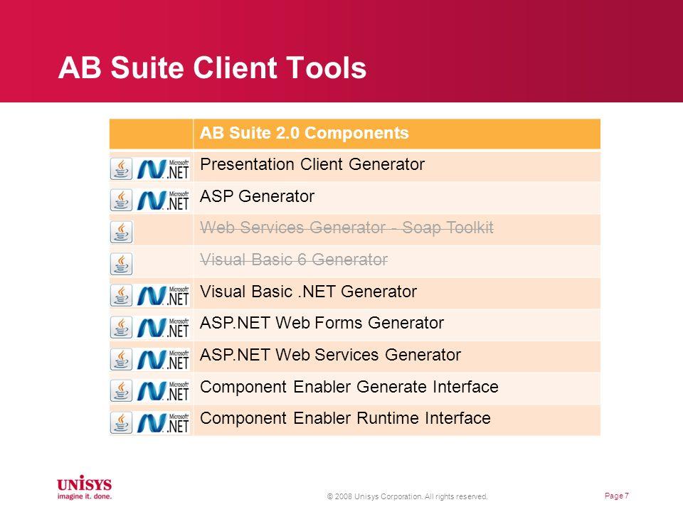 AB Suite Client Tools AB Suite 2.0 Components