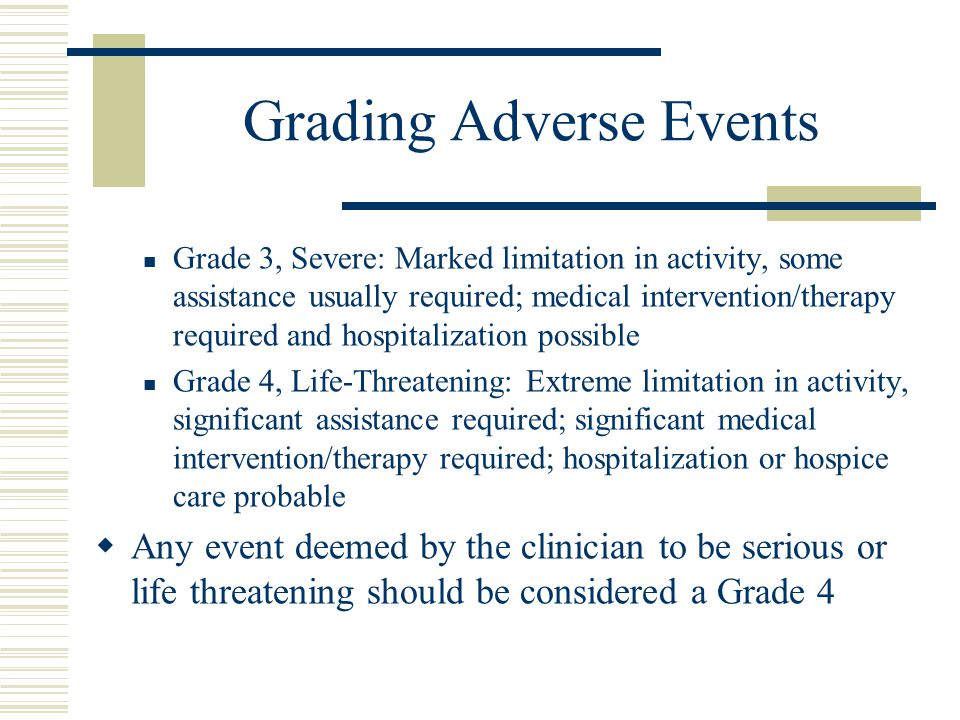 Grading Adverse Events