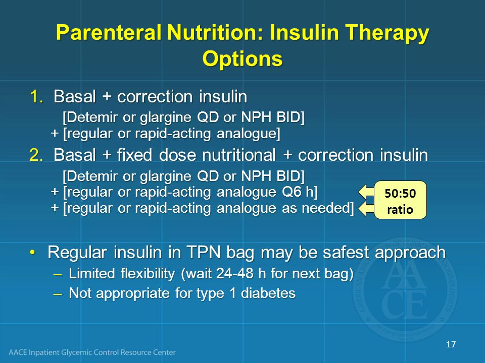 Parenteral Nutrition: Insulin Therapy Options