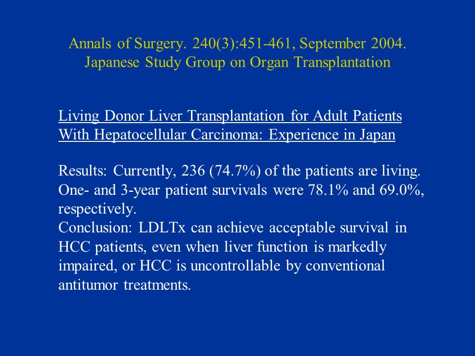 Annals of Surgery. 240(3):451-461, September 2004