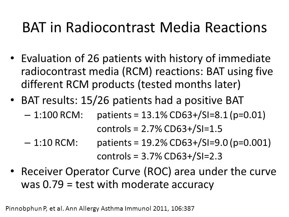 BAT in Radiocontrast Media Reactions