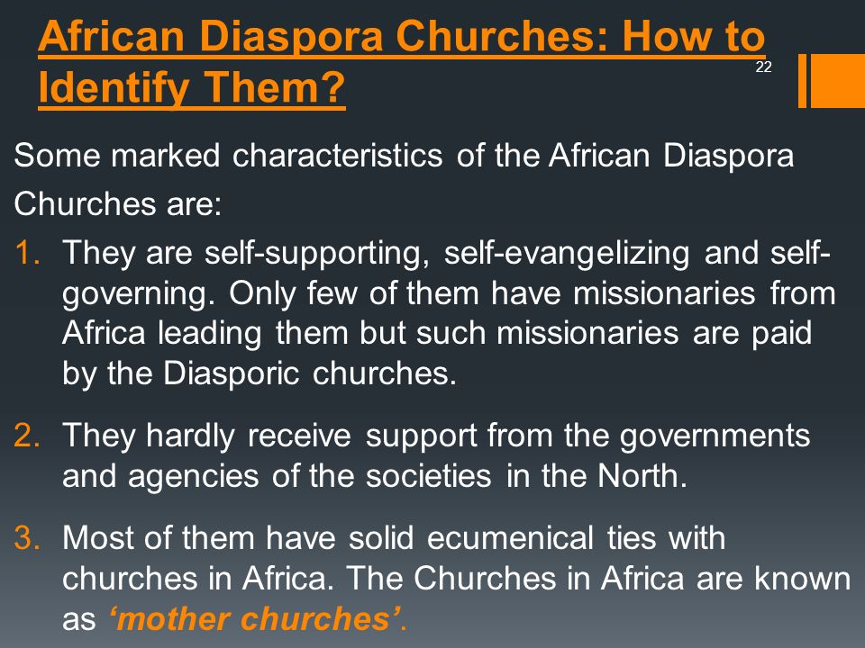African Diaspora Churches: How to Identify Them