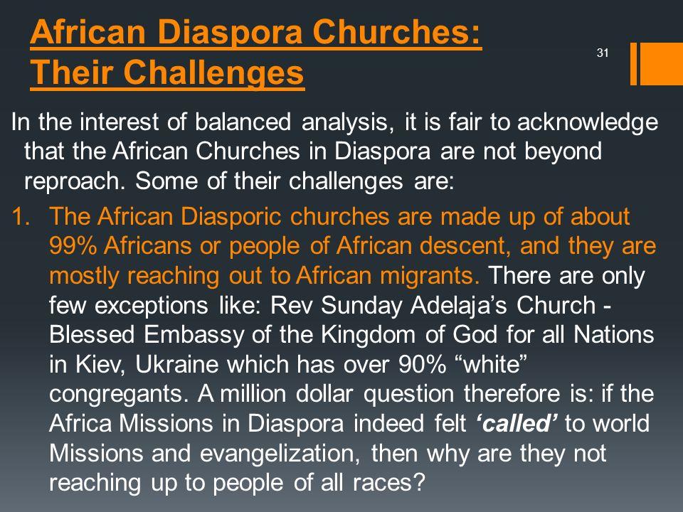 African Diaspora Churches: Their Challenges