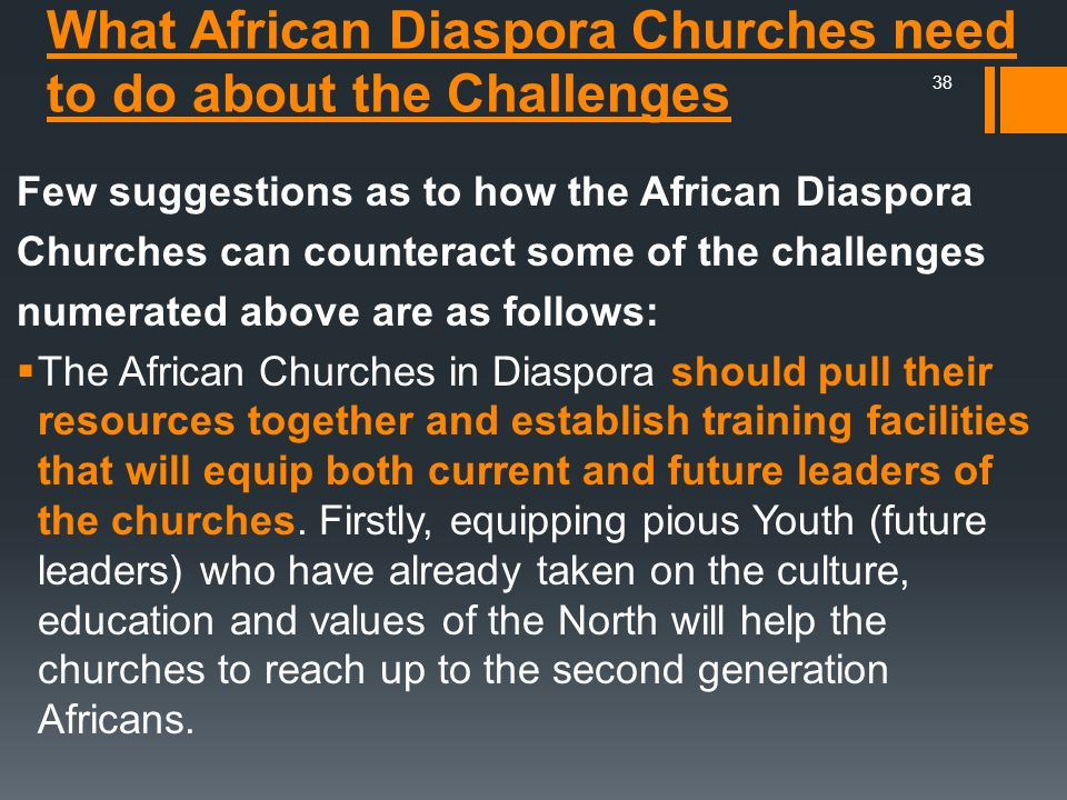 What African Diaspora Churches need to do about the Challenges
