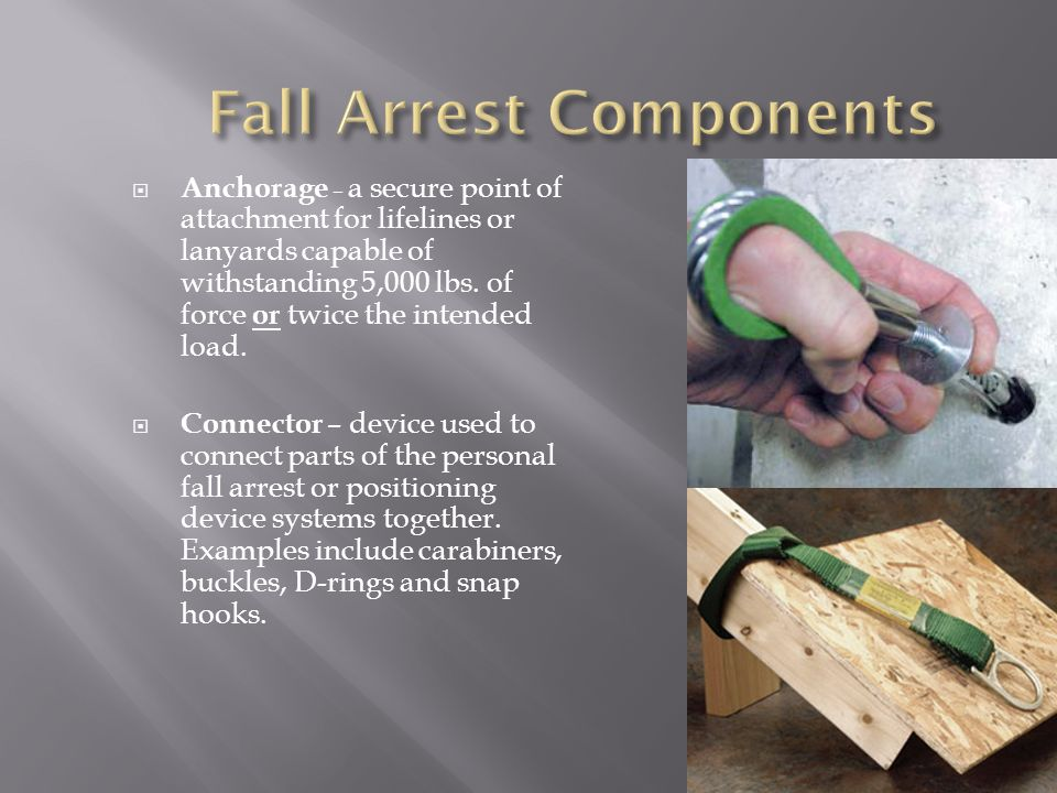 Fall Arrest Components