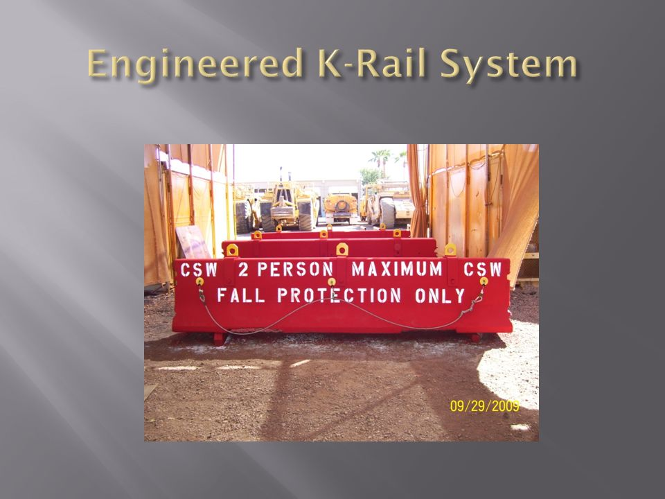 Engineered K-Rail System