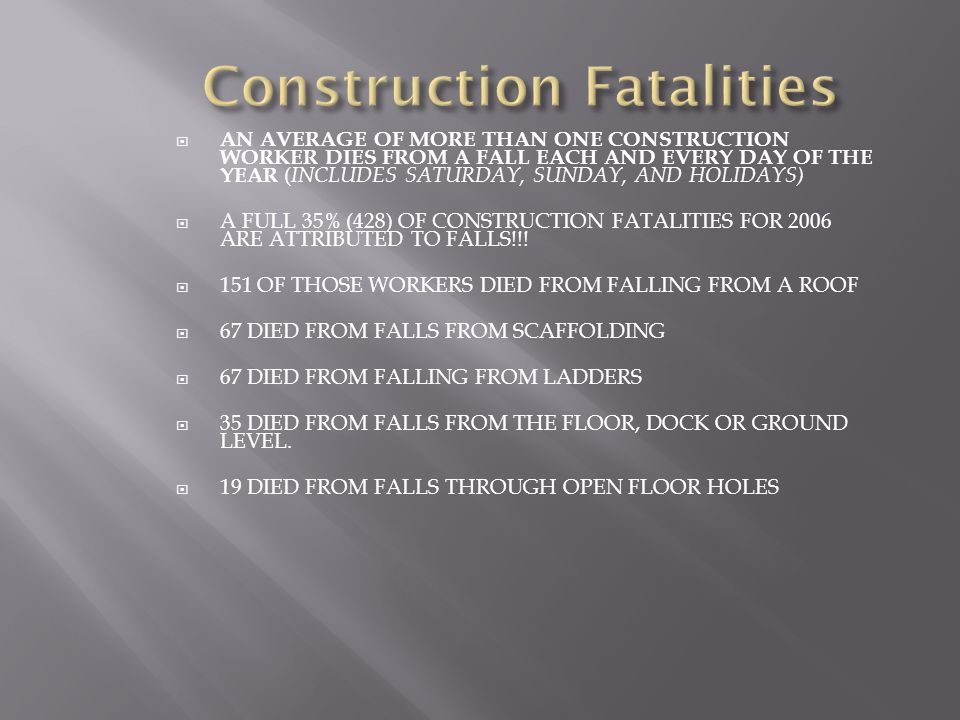Construction Fatalities