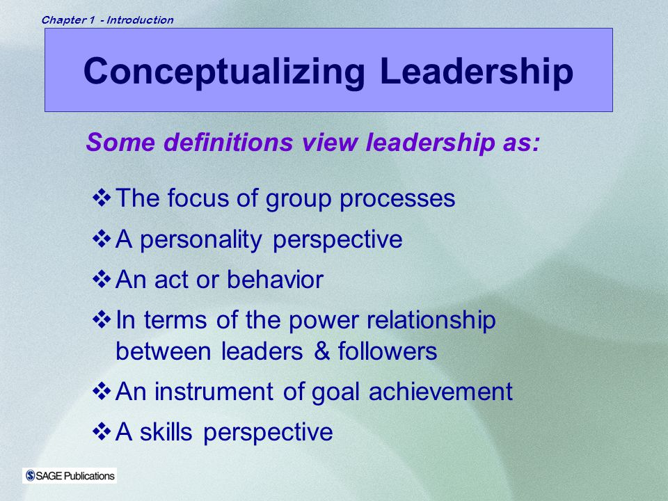 Conceptualizing Leadership