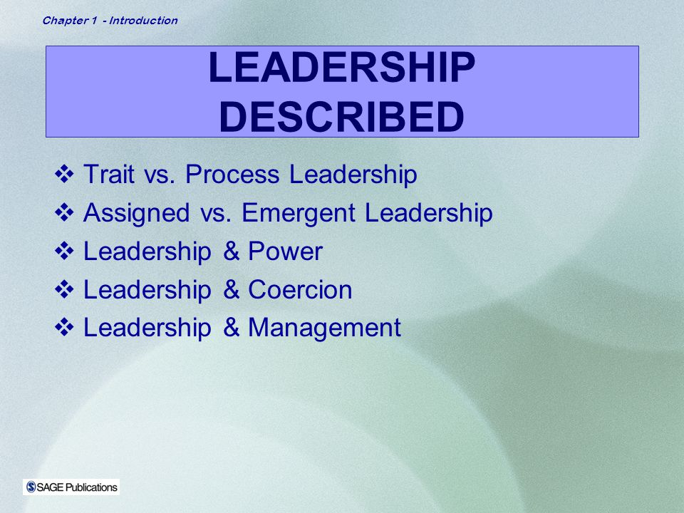 assigned versus emergent leadership essay The distinction between assigned leadership and emergent leadership is simple assigned leaders are appointed to a formal management or supervisor position emergent leaders take on informal leadership roles based on the perception that work team or group members have toward them for a small .