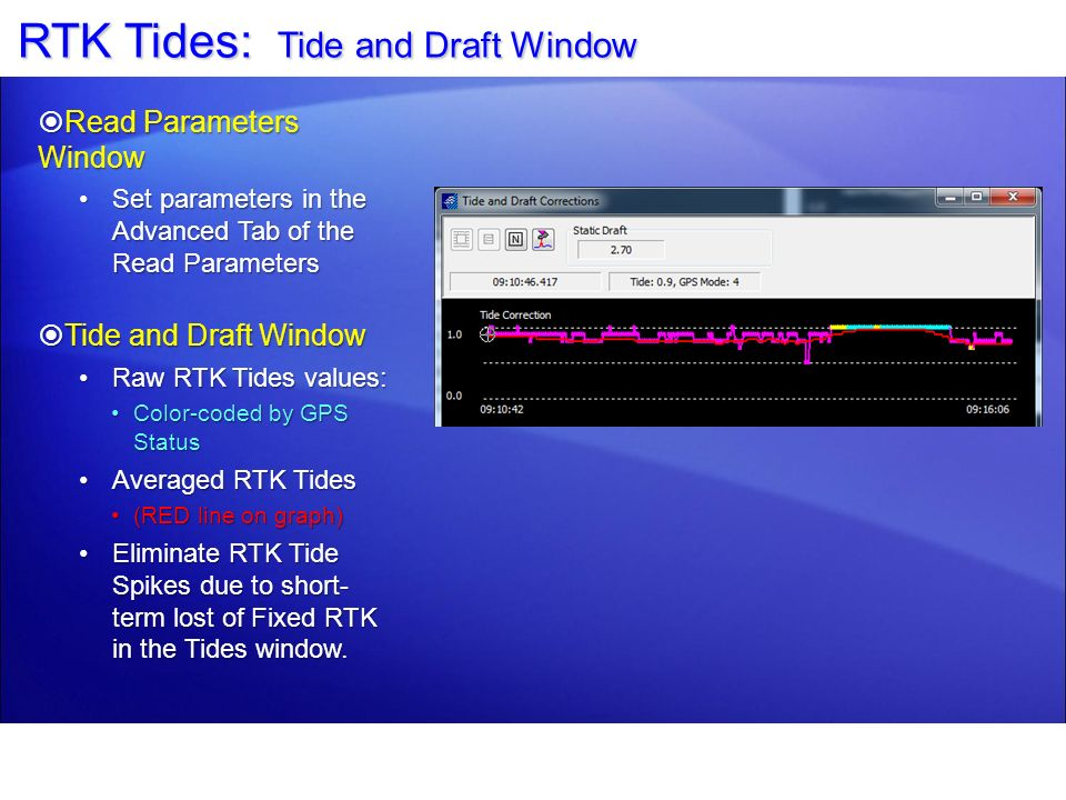 RTK Tides: Tide and Draft Window