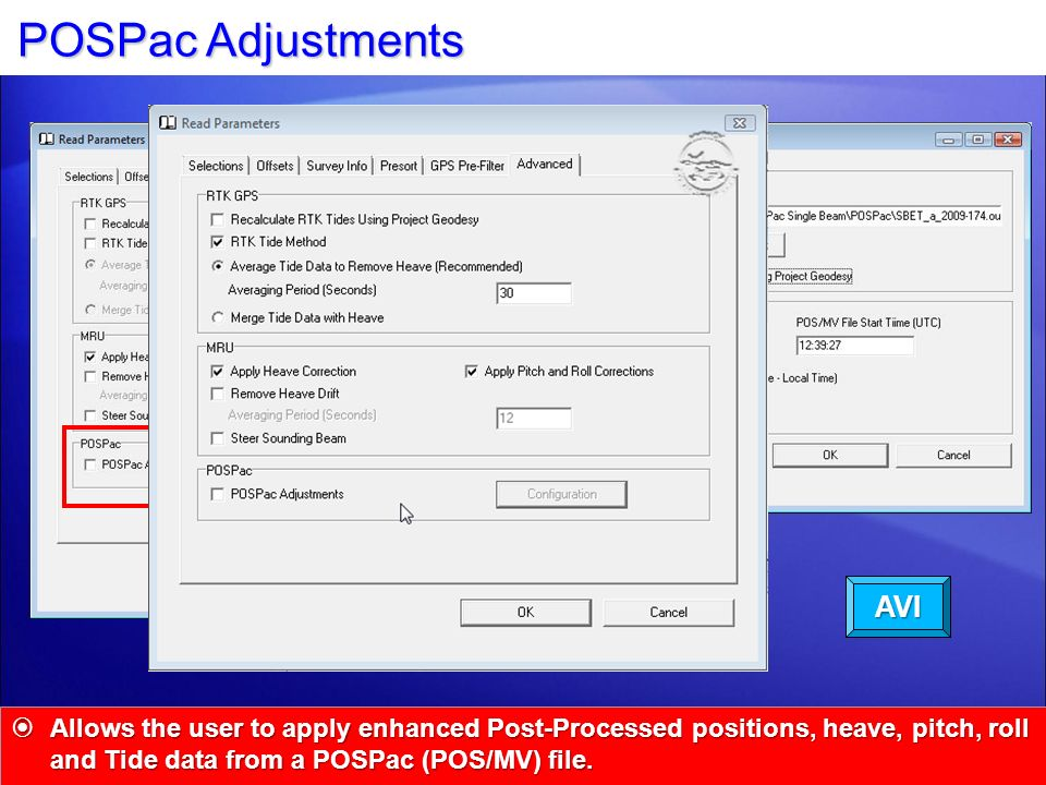 POSPac Adjustments AVI