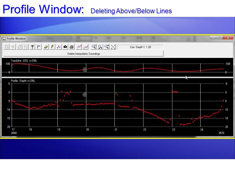Profile Window: Deleting Above/Below Lines