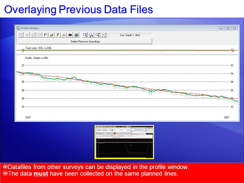 Overlaying Previous Data Files