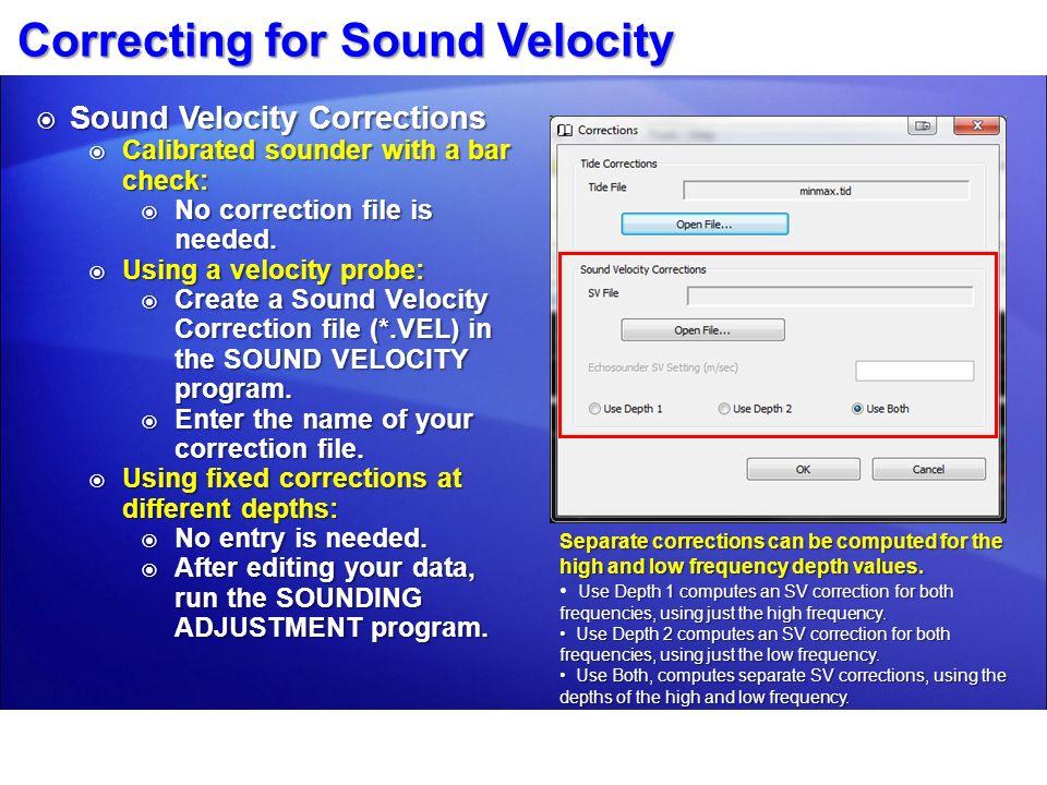 Correcting for Sound Velocity