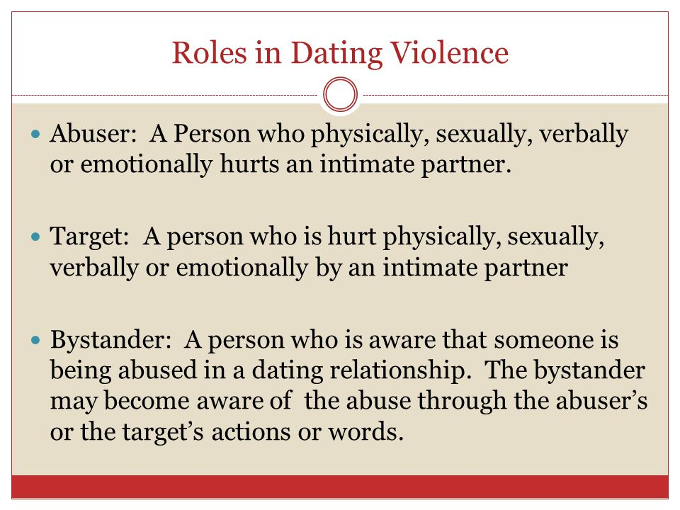 Roles in Dating Violence