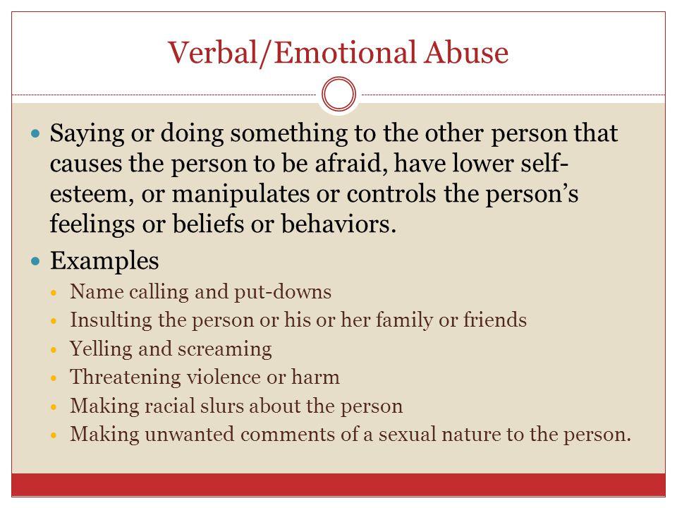 Verbal/Emotional Abuse