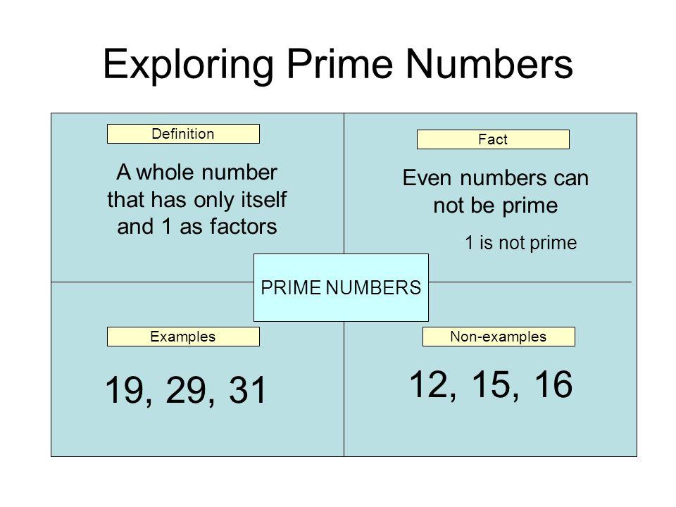 Exploring Prime Numbers