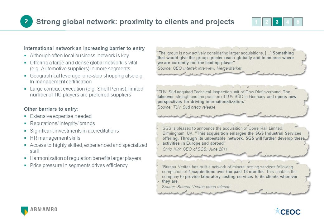 Strong global network: proximity to clients and projects