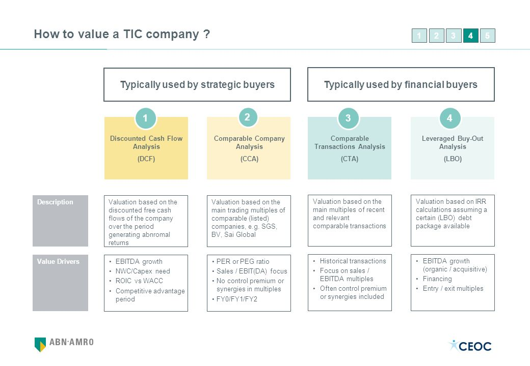 How to value a TIC company