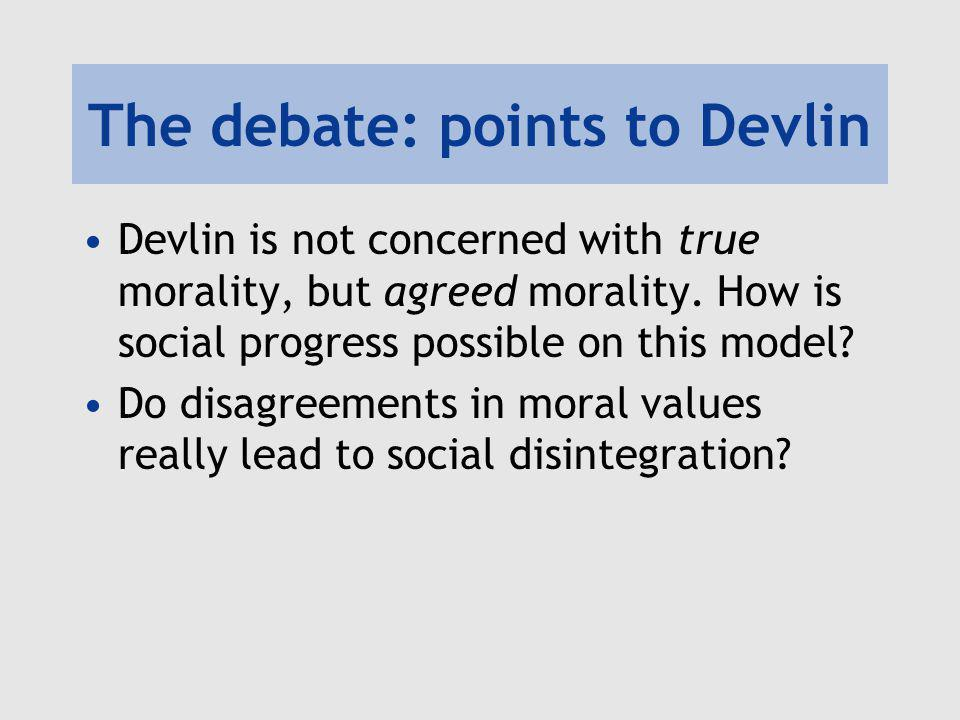 The debate: points to Devlin
