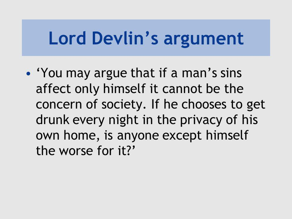 Lord Devlin's argument
