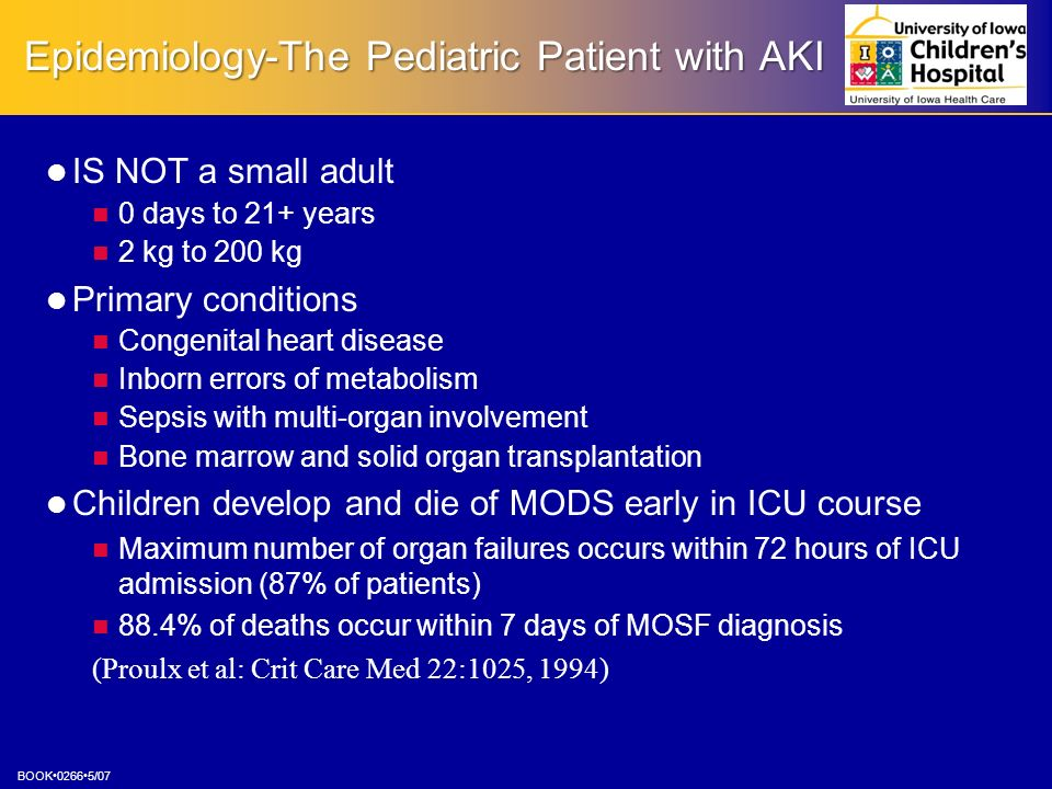 Epidemiology-The Pediatric Patient with AKI
