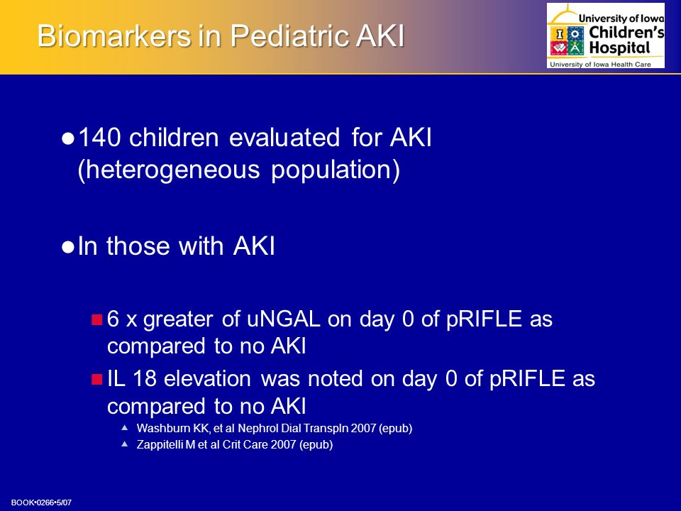 Biomarkers in Pediatric AKI