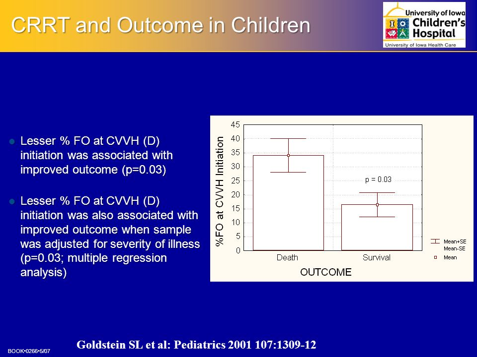 CRRT and Outcome in Children