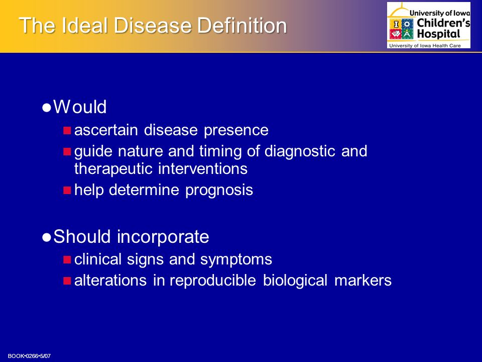The Ideal Disease Definition