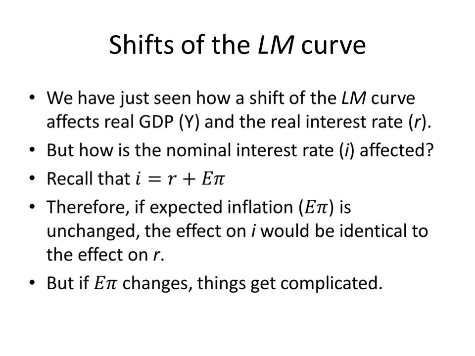 Shifts of the LM curve