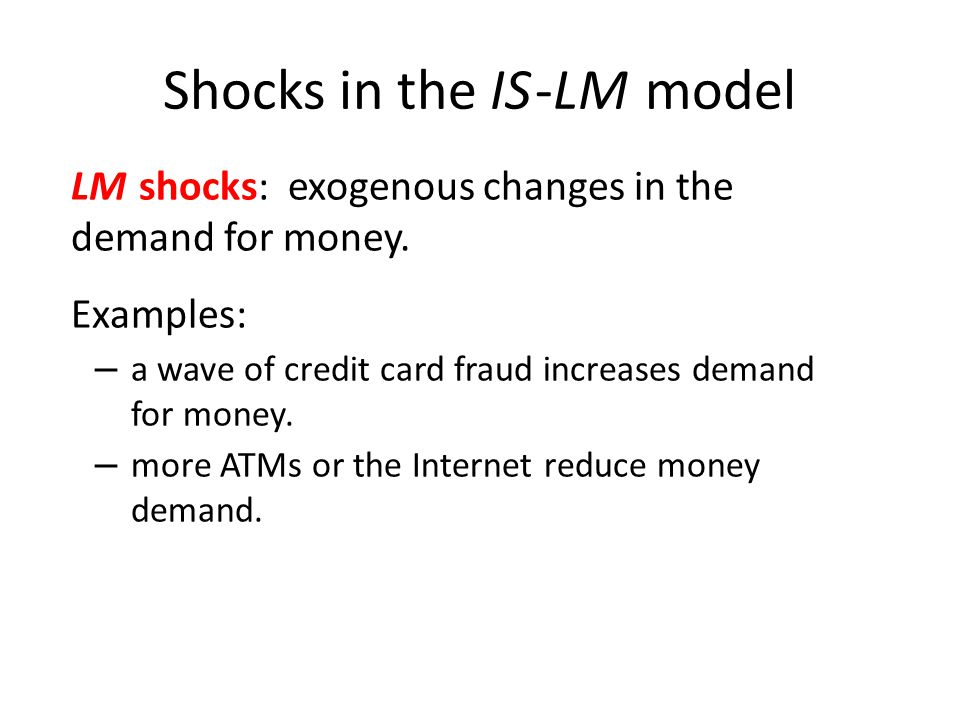 Shocks in the IS -LM model