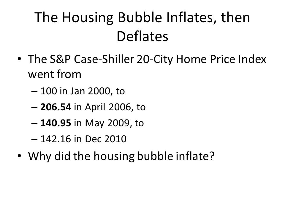 The Housing Bubble Inflates, then Deflates
