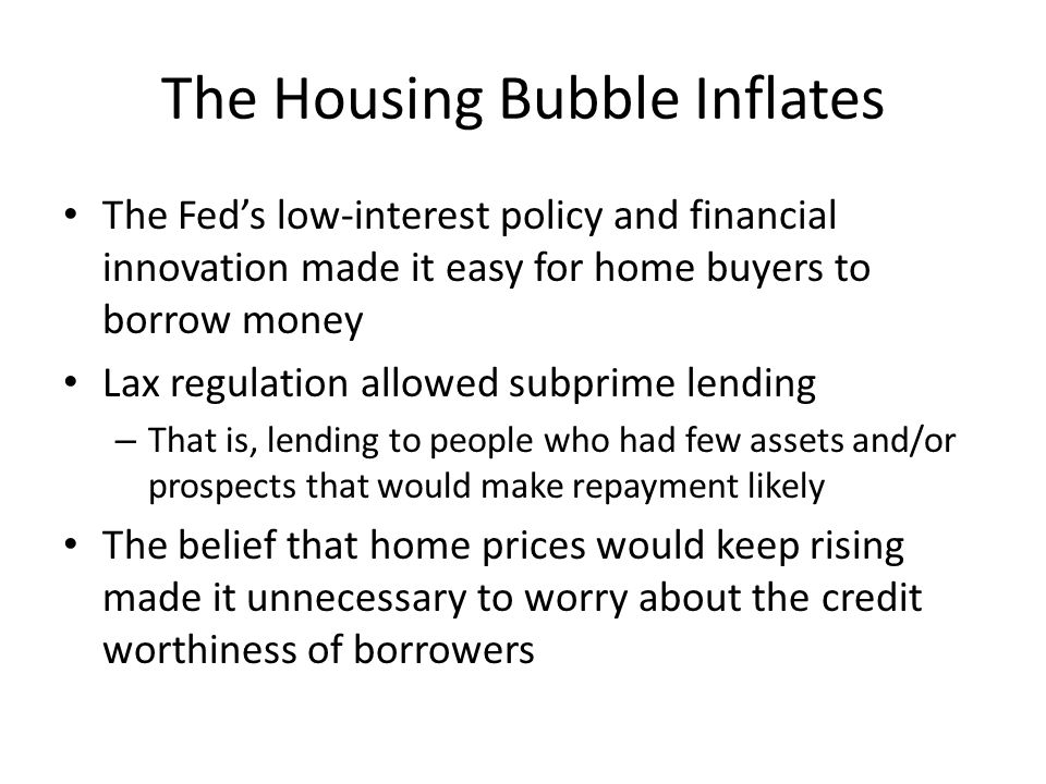 The Housing Bubble Inflates
