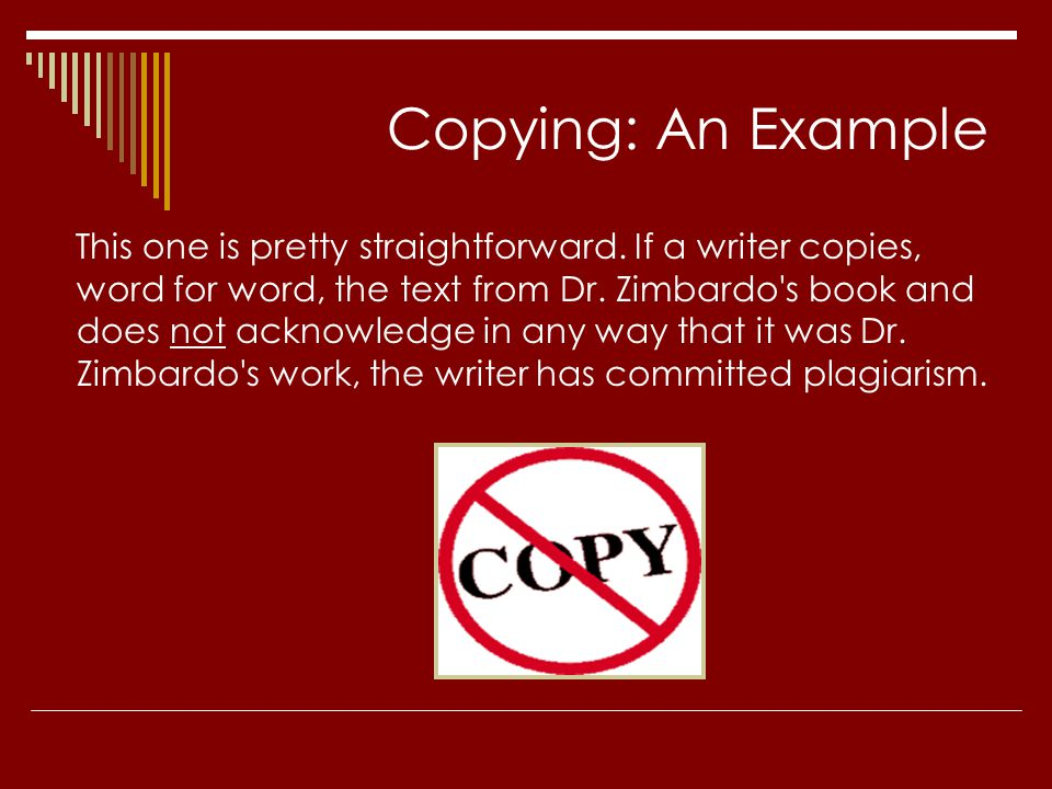 Copying: An Example