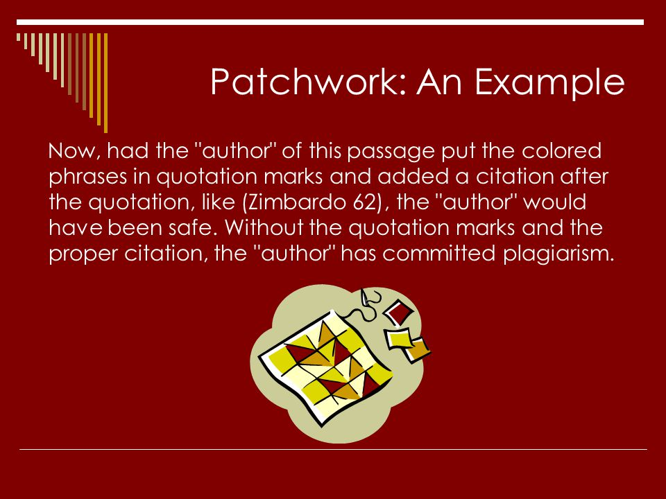 Patchwork: An Example