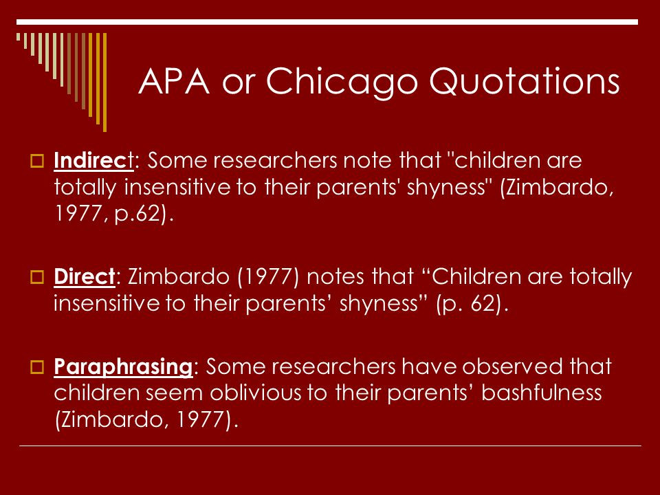 APA or Chicago Quotations