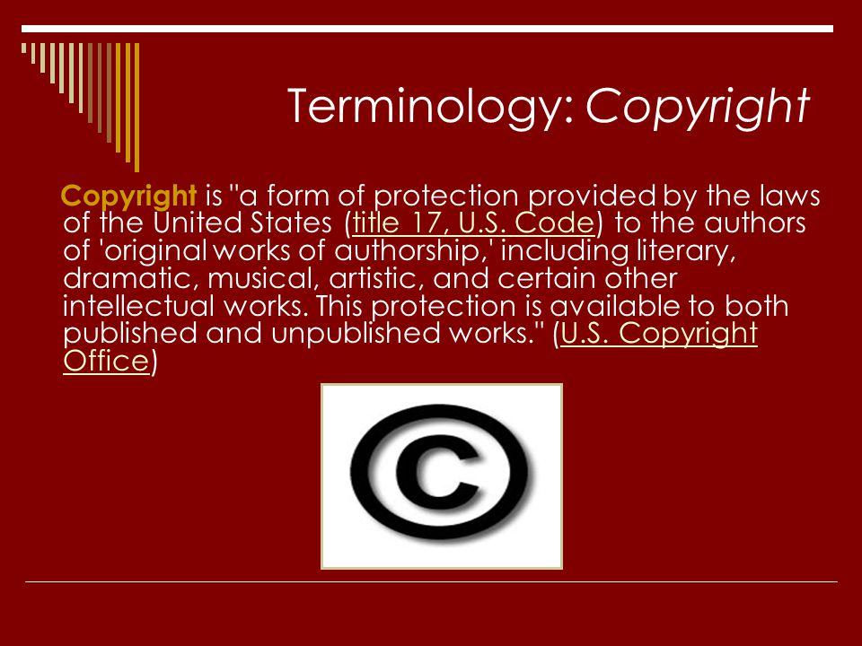 Terminology: Copyright