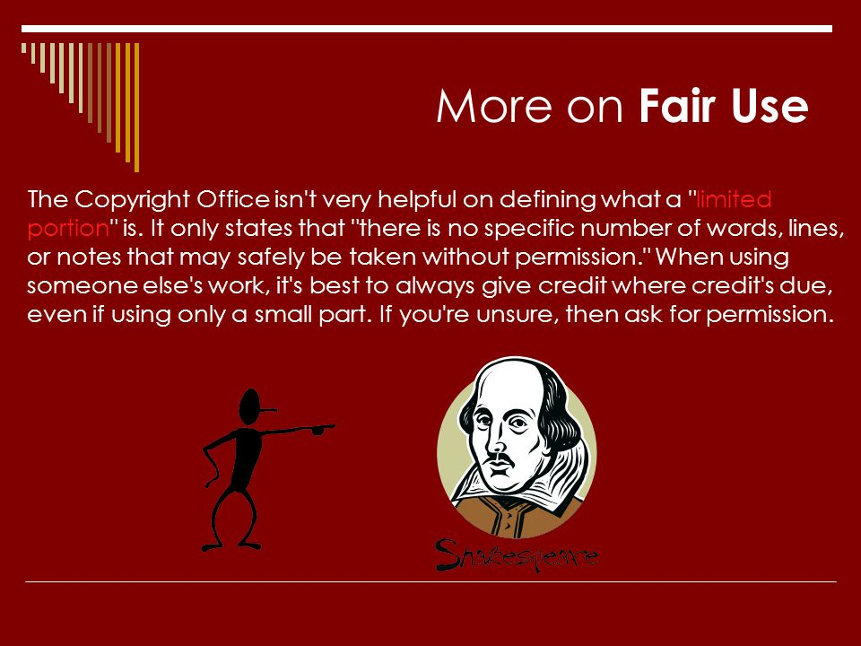 More on Fair Use