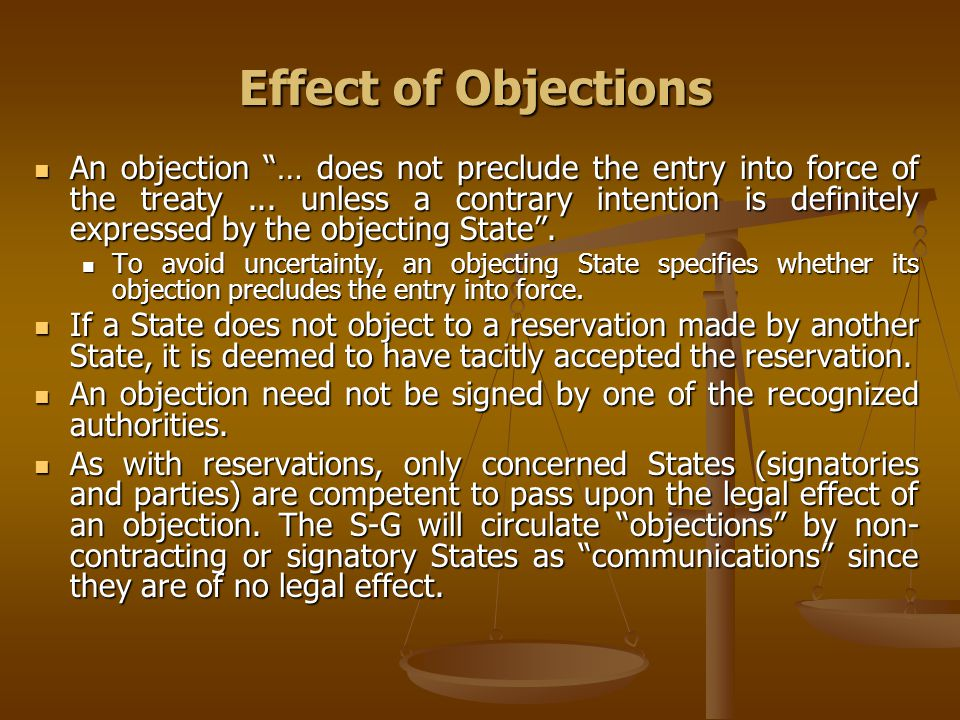 Effect of Objections