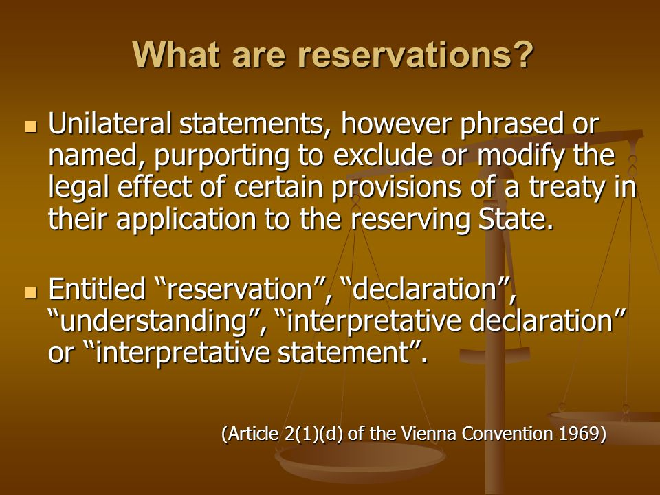 What are reservations