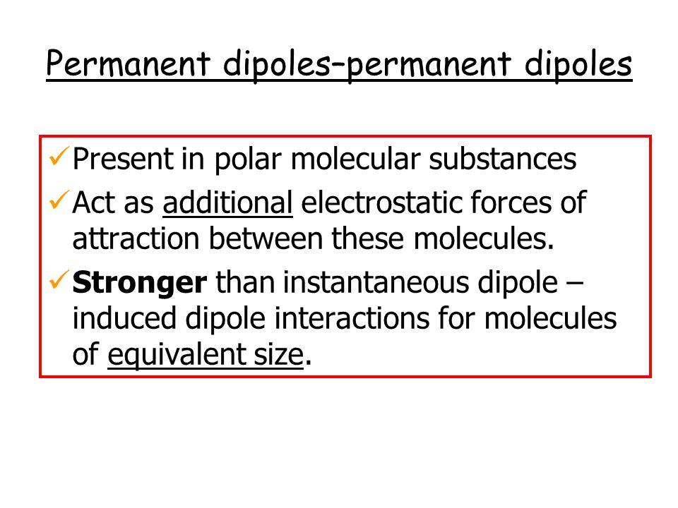 Permanent dipoles–permanent dipoles