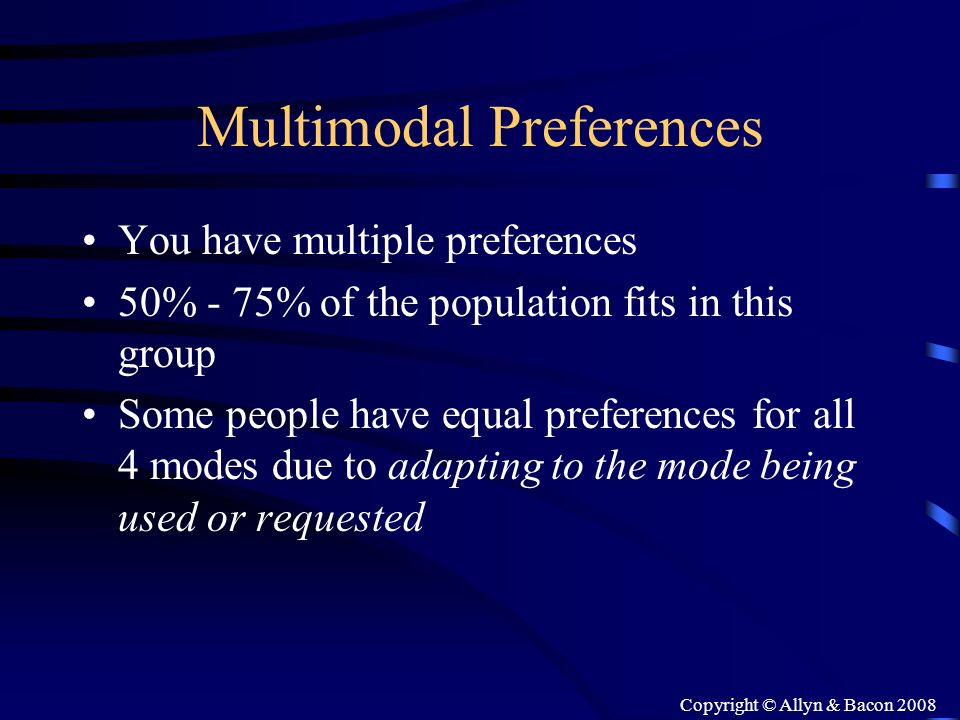 Multimodal Preferences