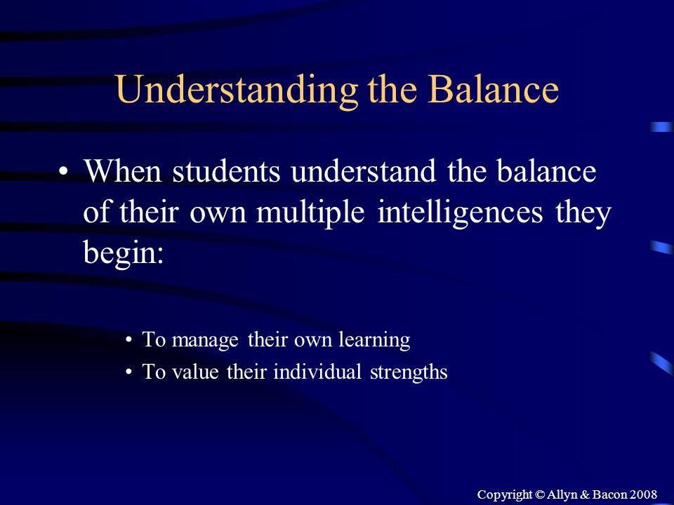 Understanding the Balance