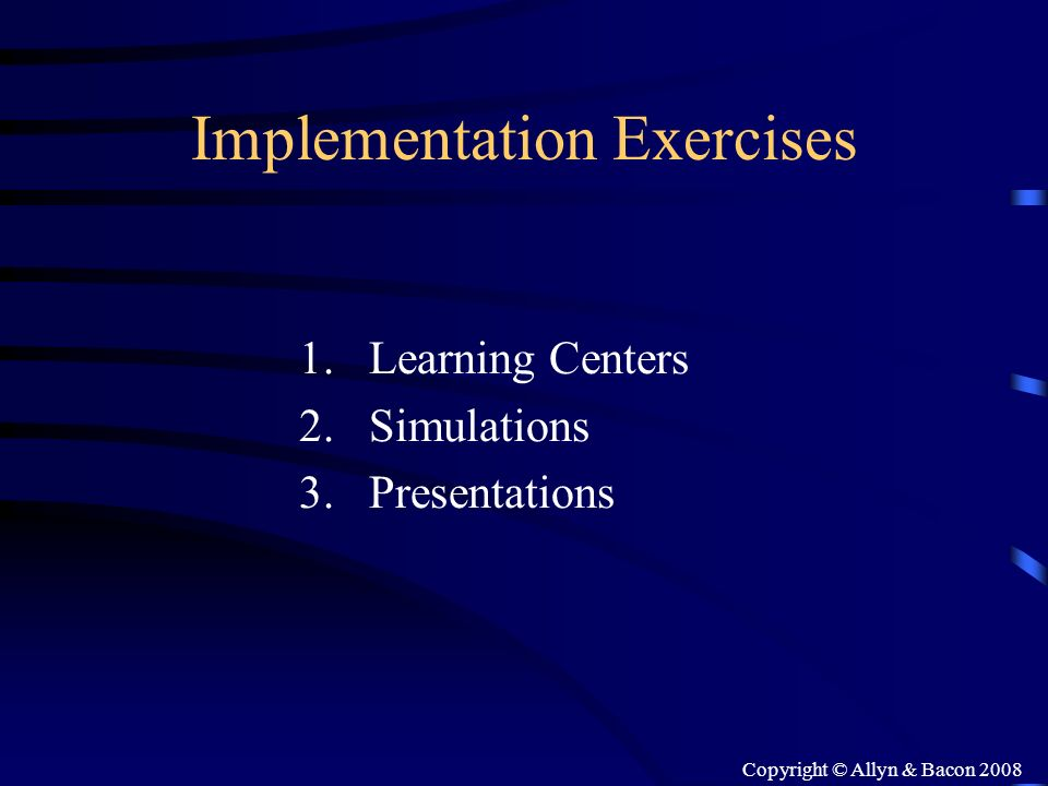 Implementation Exercises