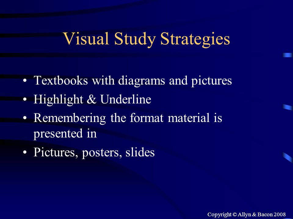 Visual Study Strategies