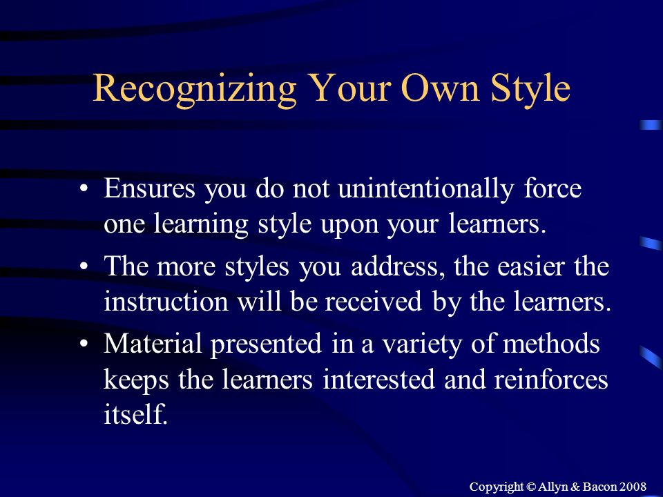 Recognizing Your Own Style