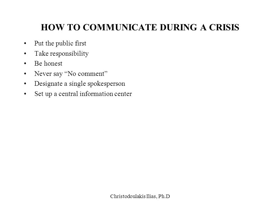 HOW TO COMMUNICATE DURING A CRISIS